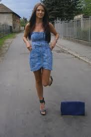 blue jeans dress dresses purple violet clutch bags black shoes