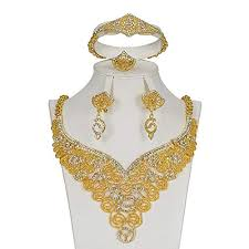 earring necklace sets wedding images Mukun wedding gold plated jewelry sets for women jpg