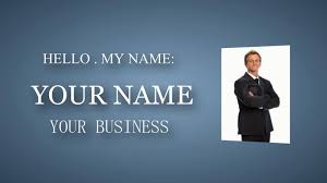free template sony vegas business card shock prod