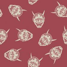 free hannya devil mask pattern from the book pattern sourcebook