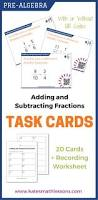 16 best adding u0026 subtracting fractions images on pinterest math