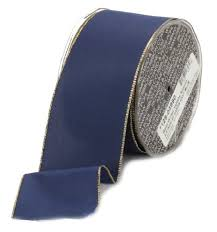 navy blue wired ribbon taffeta ribbon wired for sale online how to make hair bows