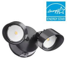 Outdoor Led Flood Lights by All Pro Twin Head Bronze Outdoor Round Led Flood Light Ftr1740l