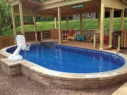 Above Ground Pool Landscaping Ideas Best 25 Above Ground Pool Ideas On Pinterest Above Ground Pool