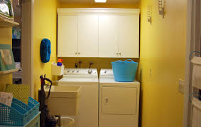 interior laundry room design idea with mdf wall cabinets and