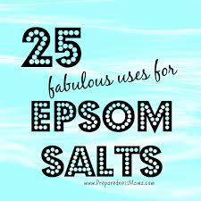 25 uses for epsom salts