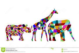 imagenes abstractas hd de animales animales abstractos de áfrica ilustración del vector ilustración
