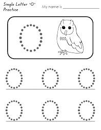 letter o worksheets for kids loving printable