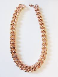 rose gold necklace chains images Oversize chunky rose gold chain necklace pink gold necklace chain jpg