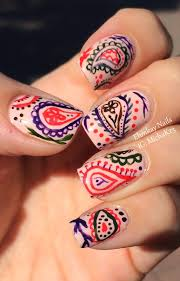hand painted nail designs pictures