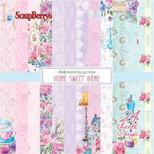 the sweethome sheets scrapberry u0027s paper collection set 6x6 home sweet home 190 gsm 24