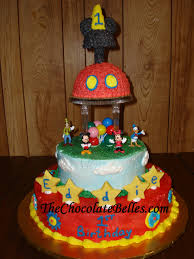 mickey mouse tier 1st birthday cake