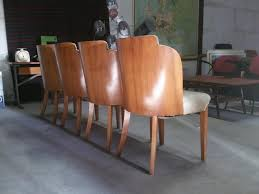 art deco dining chairs by harry u0026 lou epstein set of 4 for sale