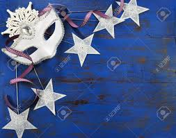 mask decorations happy new year background with white masquerade party mask and