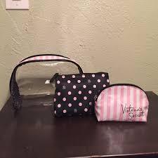 44 off victoria 39 s secret handbags victoria 39 s secret cosmetic bag trio from justine