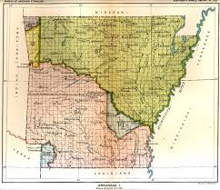 Native American Map Of Usa by Indian Land Cessions Maps And Treaties In Arkansas Indian