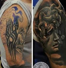 sleeve cover up with outstanding sad and black