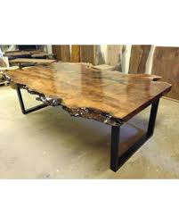 live edge round table raw natural goodness 50 live edge dining tables that wow within