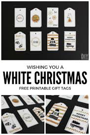 printable gingerbread man gift tags wishing you a white christmas printable gift tags black and gold