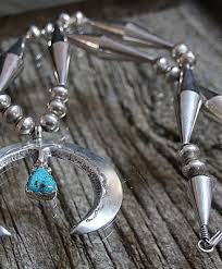 large silver beads necklace images Savvy collector sterling silver naja with one turquoise on large jpg