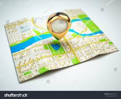 Gps Map Navigation Concept Gps Map City Golden Stock Illustration