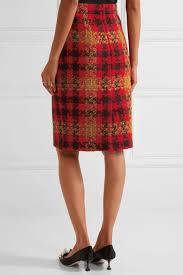 tweed skirt miu miu checked wool tweed skirt tweed and products