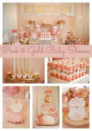 pink and gold baby shower whimsical pink and gold baby shower gold baby showers babies