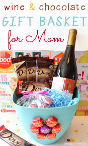 s day basket dove chocolate and wine s day gift basket