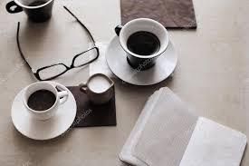 opera d arte in stile retrò tazza di caffè bicchieri foto