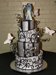 jack skellington with the corpse bride wedding cake cakes
