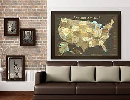 map usa framed national parks map and usa map explore america map