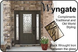 metal front doors with glass wyngate wrought iron with a classic twist the glass door store