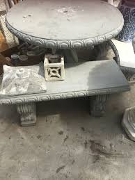 concrete table and benches price concrete table and 2 benches price is each home garden in