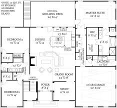 open house plan garage home designs open floor plan home designs large