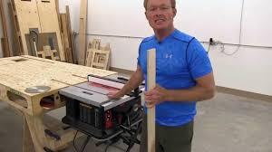 table saw dado blade insert sawstop jobsite saw will it run a dado blade youtube