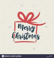merry christmas gift text quote calligraphy lettering design for