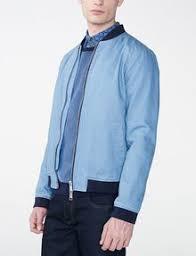 Light Blue Jacket Mens Armani Exchange Light Wash Varsity Jacket Jacket For Men A X