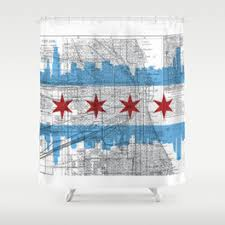 Shower Curtain Map Chicago Shower Curtains Society6
