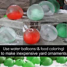 frozen water balloon yard ornaments spend with pennies