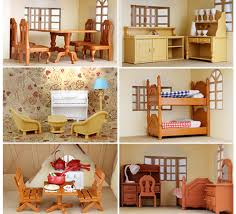 Kitchen Living Room Bedroom Miniature Sofa Furniture For Sylvanian - Sylvanian families living room set