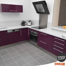 cuisine pourpre idée relooking cuisine cuisine couleur aubergine au style design