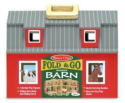 Little Tikes Barn Amazon Com Melissa U0026 Doug Fold And Go Wooden Barn With 7 Animal