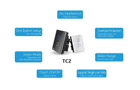 wireless wall light switch broadlink tc2 1 2 3 gang wireless wifi remote control wall light