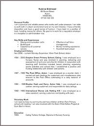 Resume Format Example Copy Resume Format Chronological Resume Format Template