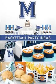 basketball party ideas boy s half birthday basketball halftime party spaceships and