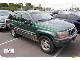 green jeep grand cherokee 1999 everglade green pearl jeep grand cherokee laredo 4x4