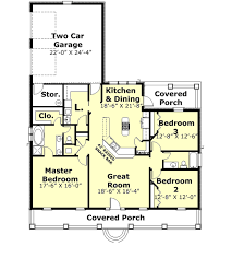 Country Style House Floor Plans Country Style House Plan 3 Beds 2 00 Baths 1735 Sq Ft Plan 44 176