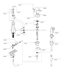 moen vestige kitchen faucet moen 7065 parts list and diagram after 9 10