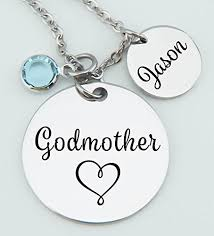 godmother necklace godmother necklace godson goddaughter gift for