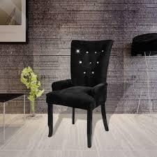 Esszimmersessel Schwarz Vidaxl Stuhl Sessel In Handform Samt Schwarz Real